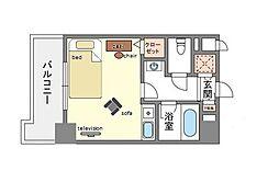家具・家電付きフォーラム美野島[6階]の間取り