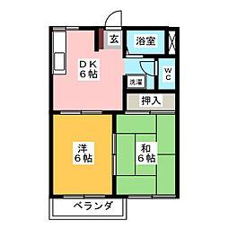 フレグランスHASAMA B[1階]の間取り
