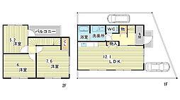 [テラスハウス] 兵庫県姫路市広畑区西蒲田 の賃貸【/】の間取り