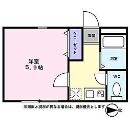 メゾン日野[203 号室]の間取り