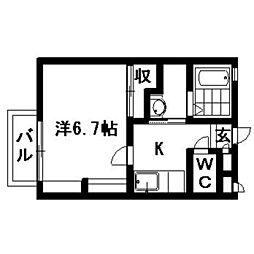 静岡県浜松市中区幸4丁目の賃貸アパートの間取り