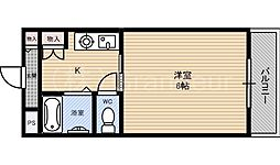 プレジデント横田[5階]の間取り