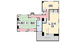 兵庫県姫路市東雲町6丁目の賃貸マンションの間取り