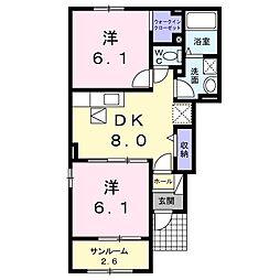 大−2(屋代)[101号室号室]の間取り