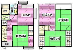 [一戸建] 広島県広島市安芸区矢野東5丁目 の賃貸【/】の間取り