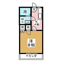 ハイツNEMOTO[2階]の間取り