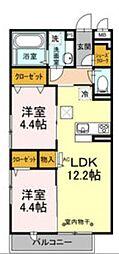 D-room石川[3階]の間取り