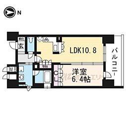 京阪本線 清水五条駅 徒歩4分の賃貸マンション 2階1LDKの間取り