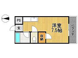 木下コーポ[2階]の間取り