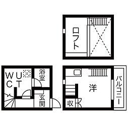 Casa Grigio(カーサグリージョ)[2階]の間取り