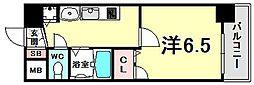 Citta Vista神戸下山手通 5階1Kの間取り
