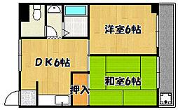 兵庫県明石市中朝霧丘の賃貸アパートの間取り