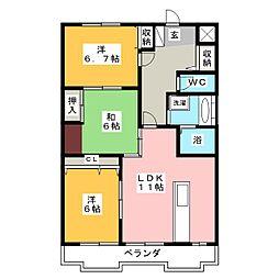 シンティラ三ノ輪 3階3LDKの間取り