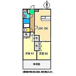フローラル・アベニュー壱番館[1階]の間取り