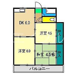 杉村マンション[2階]の間取り