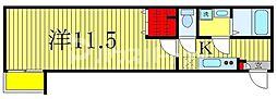 IoTレジデンス南流山 2階1Kの間取り