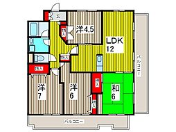 フクロクハイマンション3号館[10階]の間取り