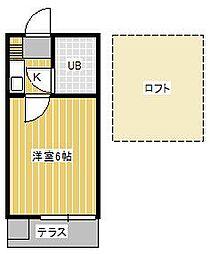 ジュネパレス松戸第92[1階]の間取り