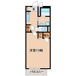 兵庫県尼崎市東園田町6の賃貸アパートの間取り