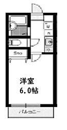 ボー・ユニヴェール[2階]の間取り