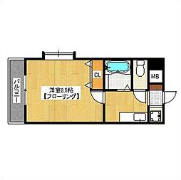 福岡県福岡市早良区荒江3丁目の賃貸マンションの間取り