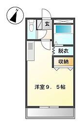 愛知県名古屋市緑区桶狭間南の賃貸アパートの間取り