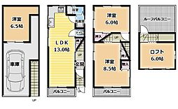 [一戸建] 大阪府寝屋川市池田南町 の賃貸【/】の間取り