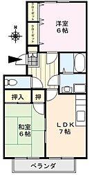 レイクヒルKASA[2階]の間取り