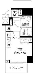 N-stage Toyoda 10階ワンルームの間取り
