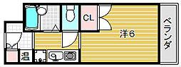 大阪府茨木市春日2丁目の賃貸マンションの間取り