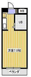 スカイパーク新松戸[201号室]の間取り