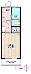 ユゲタマンション[2階]の間取り