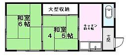第2川上荘[202号室]の間取り