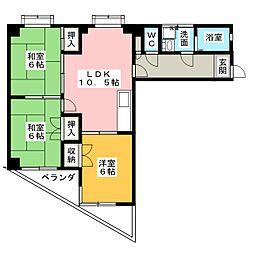 日映マンションII[5階]の間取り