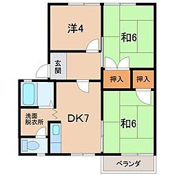 ディアス北村 (06〜08号)[2階]の間取り