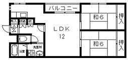 ロイヤル池田[306号室号室]の間取り
