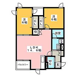 仮称 宮田マンション[2階]の間取り