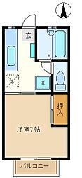 埼玉県さいたま市中央区本町東3の賃貸アパートの間取り