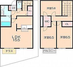 [タウンハウス] 大阪府豊中市本町5丁目 の賃貸【/】の間取り