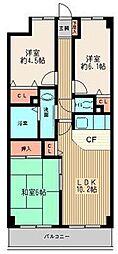 グランドゥール相模[2階]の間取り