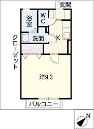 セイントワイズII[1階]の間取り