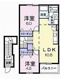 プアラニ[2階]の間取り