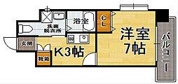福岡県福岡市博多区吉塚5丁目の賃貸マンションの間取り