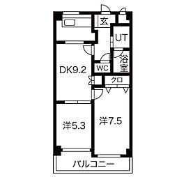 ミレニアムイースト[3階]の間取り