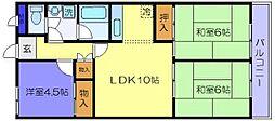 ル・ボオン21 菱屋東1 河内花園9分[1階]の間取り