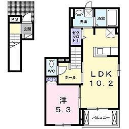 カーサ ドマーニ みらい平[2階]の間取り