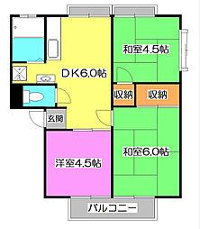メゾンドマキ[1階]の間取り