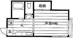 塩野荘[202号室]の間取り