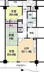 KDXレジデンス夙川ヒルズ 3番館(旧オクトス夙川)[0105号室]の間取り