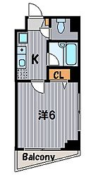 HOUZENVII[7階]の間取り